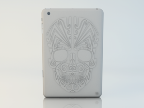 iPad mini Skull Case in White Natural Versatile Plastic