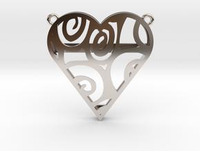 Coloured Heart in Platinum