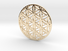 Flower of Life in 14K Yellow Gold
