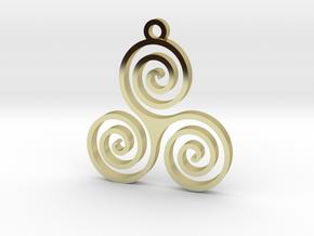Triple Spiral (Triskele) - Sacred Geometry in 18k Gold