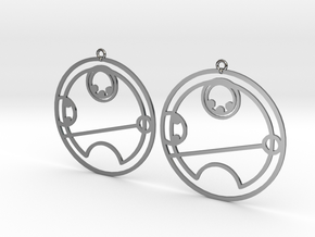 Tilly - Earrings - Series 1 in Fine Detail Polished Silver