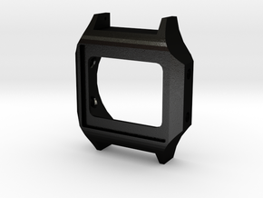 Case for OpenLCDWatch project in Matte Black Steel