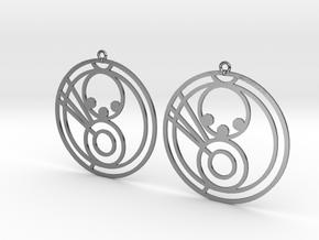 Mila - Earrings - Series 1 in Polished Silver