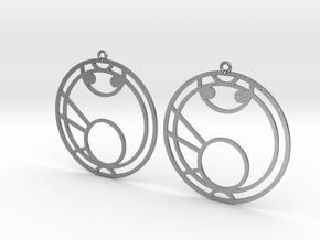 Maya - Earrings - Series 1 in Natural Silver