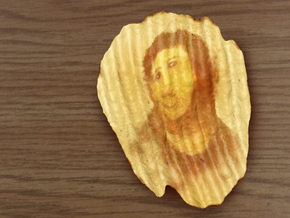 Potato Jesus, Miracle Potato Chip in Full Color Sandstone