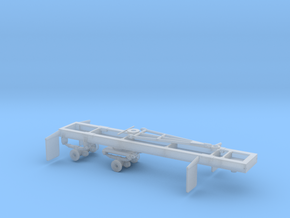 1/87th HO Scale Short log Logging trailer in Smooth Fine Detail Plastic