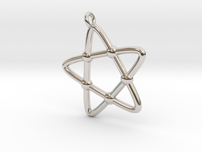 Hypotrochoid Star Pendant in Platinum