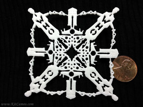 Doctor Who: Tenth Doctor Snowflake in White Strong & Flexible Polished