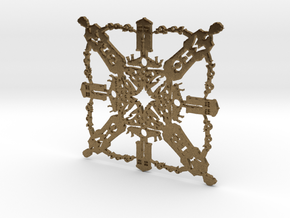 Doctor Who: Tenth Doctor Snowflake in Natural Bronze
