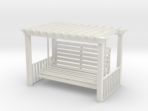 Pergola Swing in White Strong & Flexible