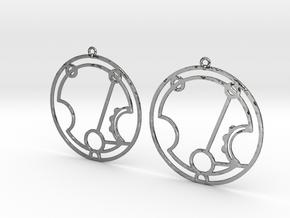 Harriet - Earrings - Series 1 in Fine Detail Polished Silver