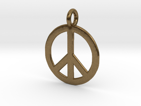 Peace Necklace in Natural Bronze