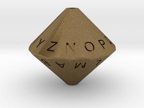 Alphabet Die in Natural Bronze