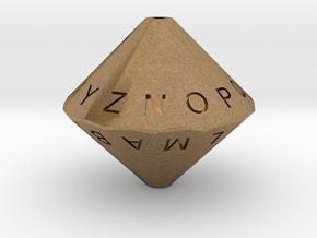 Alphabet Die in Natural Brass