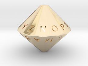 Alphabet Die in 14K Yellow Gold
