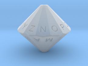 Alphabet Die in Smooth Fine Detail Plastic