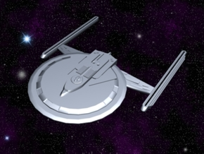 USS Sentar in White Strong & Flexible Polished