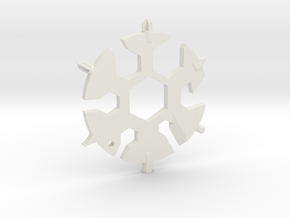 Snowflake Multi Tool in White Natural Versatile Plastic