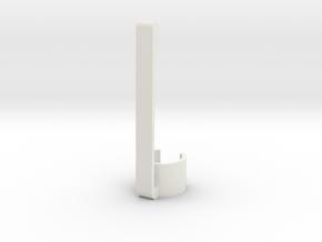 Stylus & Pen Clip - 9.5mm in White Natural Versatile Plastic