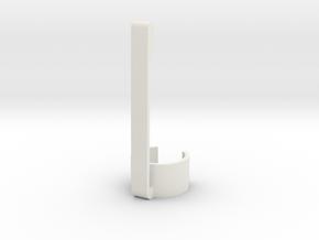 Stylus & Pen Clip - 12.0mm in White Natural Versatile Plastic