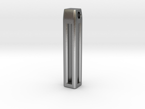 Minimalistic Tritium Pendant in Natural Silver