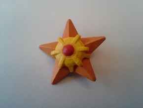 Pokemon Hitodeman (Staryu) in Orange Processed Versatile Plastic