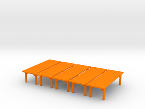 Tavern Table Medium X5 in Orange Strong & Flexible Polished