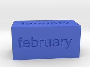 Calendar1 in Blue Processed Versatile Plastic
