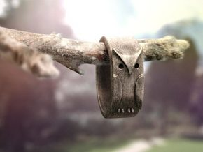 Owl Ring: (various sizes) in Stainless Steel