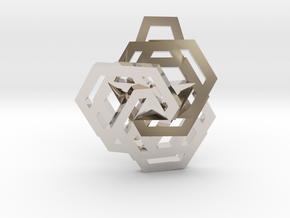 Triple Hexagon Pendant in Platinum