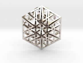 Triangular Hexagon Pendant in Platinum