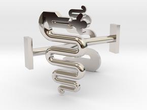 Milano (biscione) cufflinks in Platinum