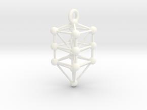 Large Qabalistic Tree of Life Pendant in White Processed Versatile Plastic