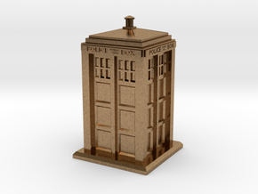 28mm/32mm scale Police Box in Natural Brass