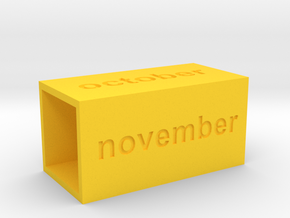 Calendar3 in Yellow Strong & Flexible Polished