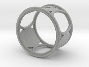 G Napkin Ring in Metallic Plastic