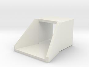 N/H0 Box Culvert Flared Headwall (size 1) in White Natural Versatile Plastic