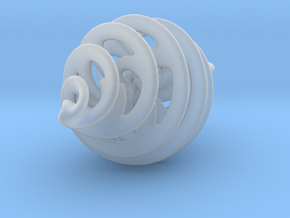 Entanglement Bauble (with loop) in Smooth Fine Detail Plastic