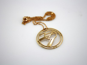 Rising Sun Abstract Pendant in 18K Gold Plated