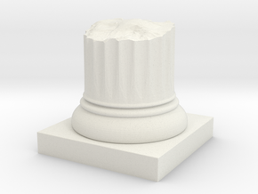 Pillar Broken Stump Original Lrg in White Natural Versatile Plastic