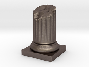 Pillar Broken Stump Variation 01 Lrg in Polished Bronzed Silver Steel