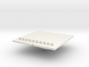 Tray part B version 002 ML in White Natural Versatile Plastic