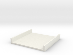 Tray part A version 002 in White Natural Versatile Plastic
