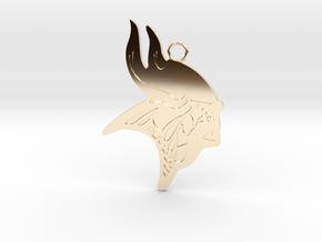 Minnesota Vikings Gold Pendant in 14K Yellow Gold