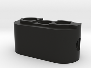 Enigmaplug-bottom in Black Natural Versatile Plastic