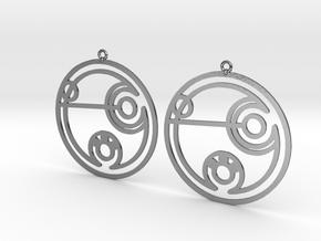 Debbie - Earrings - Series 1 in Polished Silver