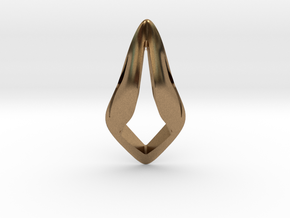 Floating Free Z, Pendant. Smooth Shaped for Perfec in Natural Brass