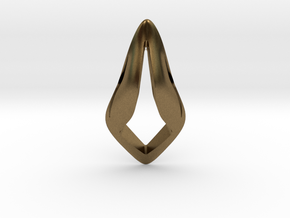 Floating Free Z, Pendant. Smooth Shaped for Perfec in Natural Bronze