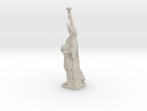 Statue Of Liberty Table Candle Holder Ø21 Cm in Natural Sandstone