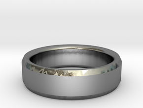 Mens Wedding Band in Polished Silver: 8 / 56.75